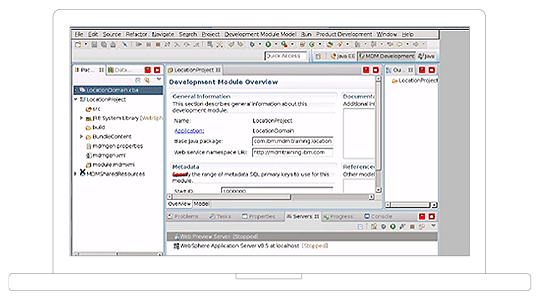 user interface of single or multiple domain master data management capability