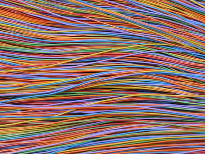 Multicolored wire pattern