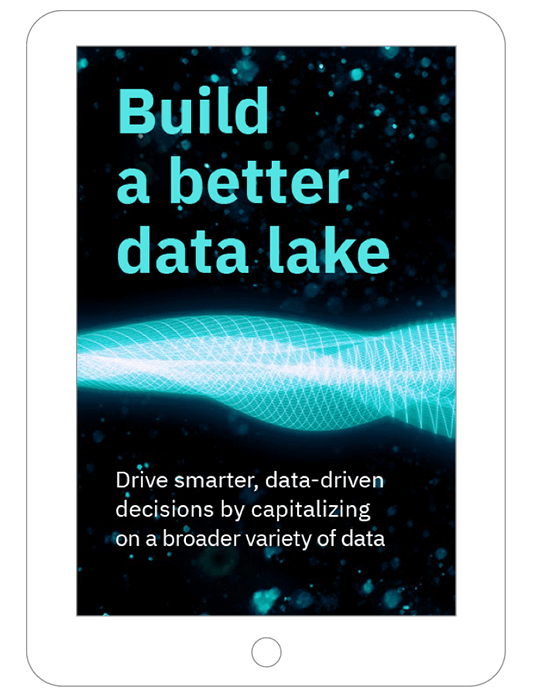 Front page of the Build a better data lake ebook