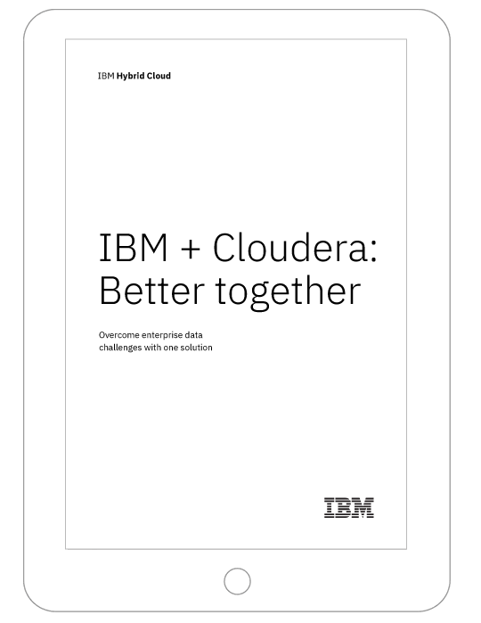 Front page of the IBM and Cloudera Better together white paper