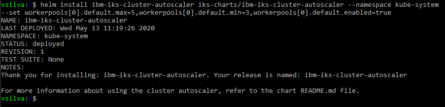 It is necessary to set the min value of autoscaler to, at least, the current number of worker nodes of your pool because min size does not automatically trigger a scale-up.   If you set up the autoscaler with a min size below the number of current worker nodes, the autoscaler does not initiate and needs to be set to the correct value before works properly.