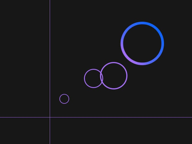 circles on a black background