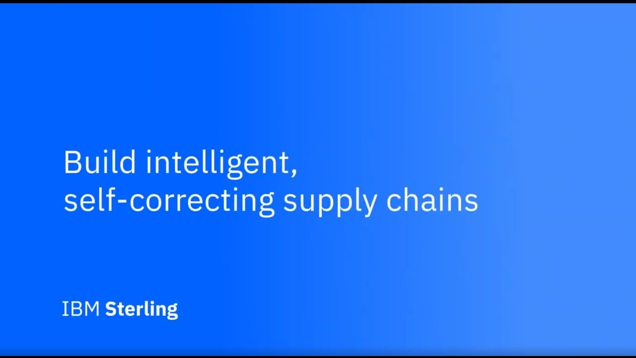 Introducing the IBM Sterling Supply Chain Suite