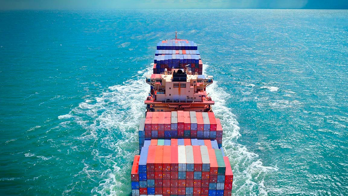 Ship filled with containers