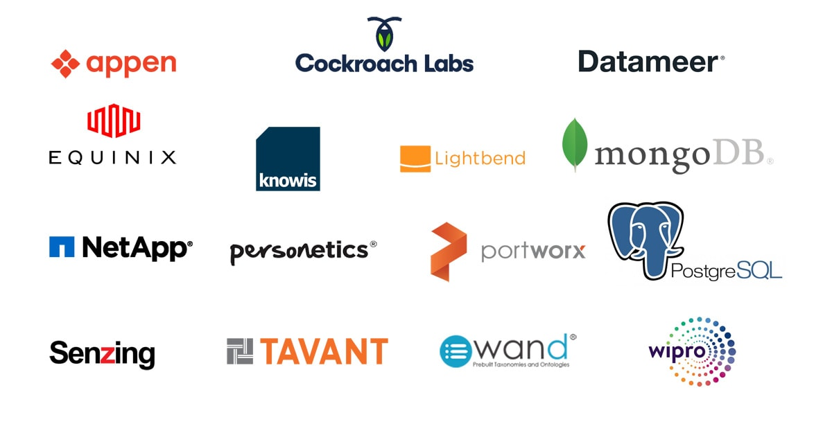 various company logos for ibm cloud pak for data partners