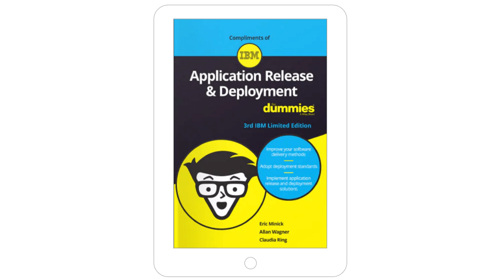 Front cover of Application Release & Deployment For Dummies ebook