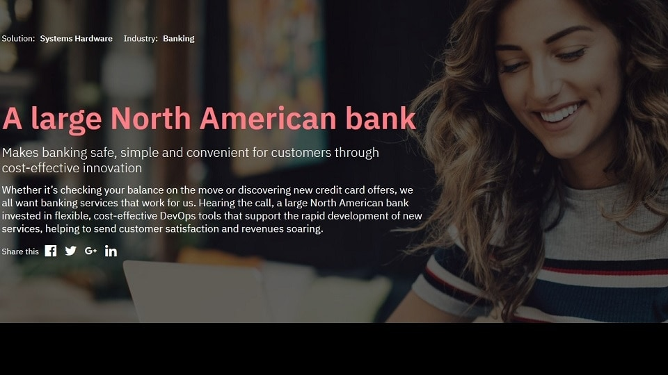 A large North American bank