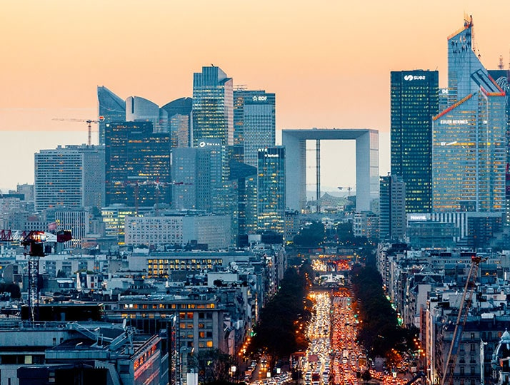 Grande Arche de la Defense viewed from the distance