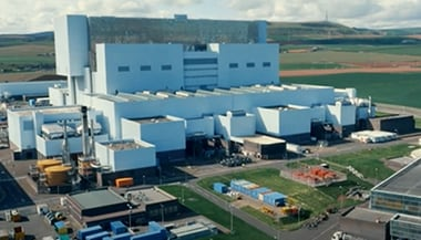 Exterior of EDF Energy plant in the UK