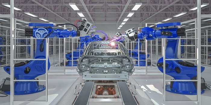 Automated vehicle assembly line