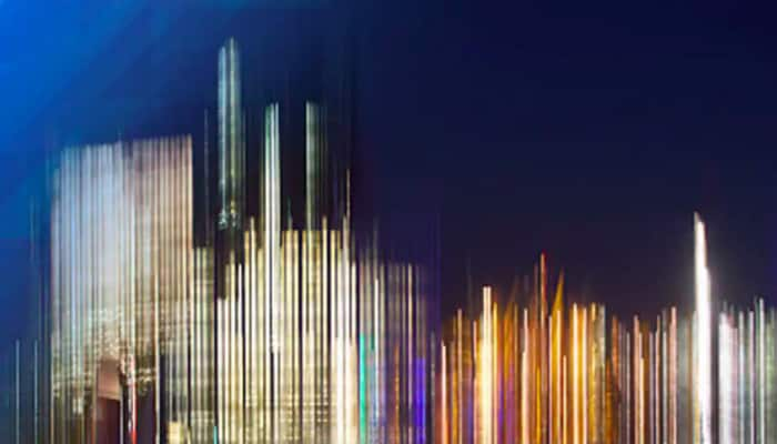blurred view of a city