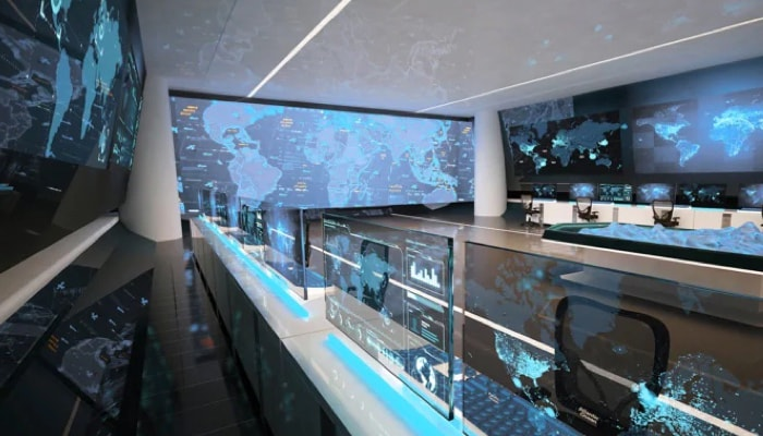 operations room perspective shot