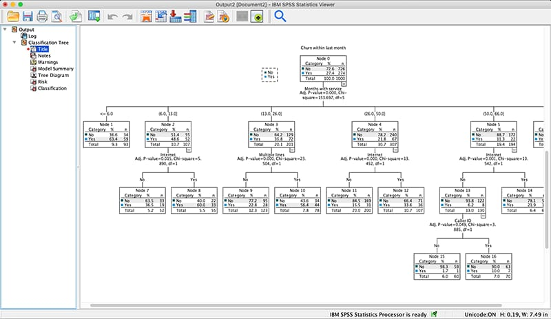 screenshot showing tree diagram