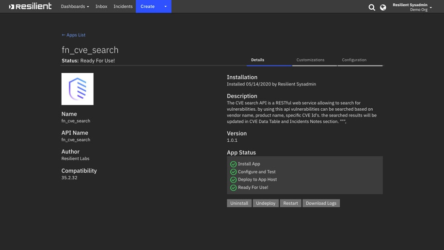 Screen shot of AppHost