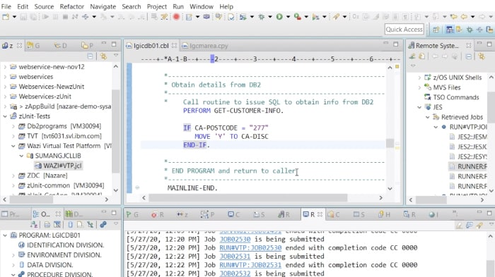 Demostración de IBM® Wazi Virtual Test Platform