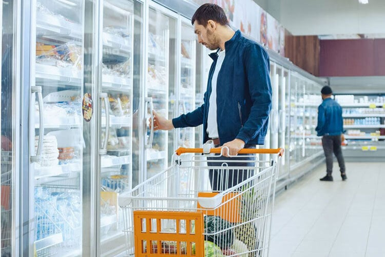 Man buying food at the store