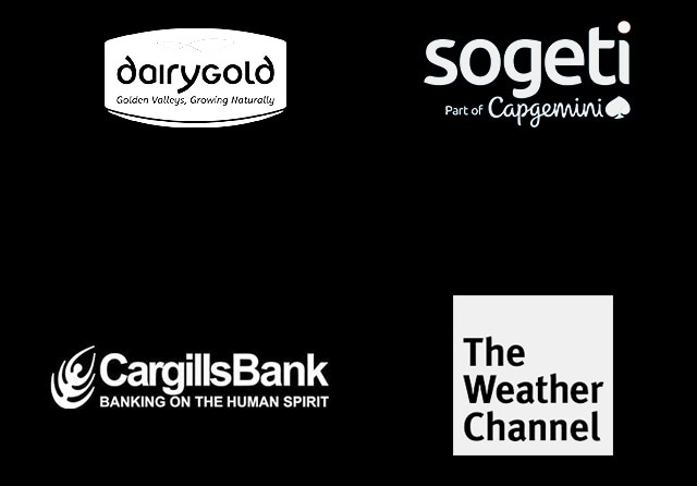 Dairygold, Sogeti, CargillsBank and The Weather Channel logos