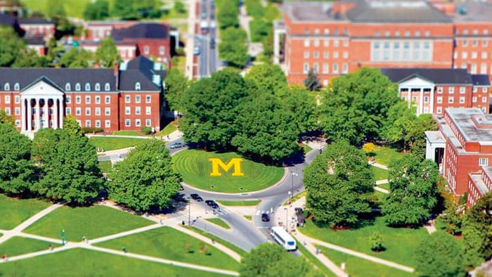 University of Maryland campus model