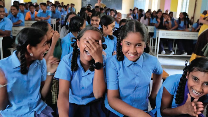 Girls in IBM's STEM program in India