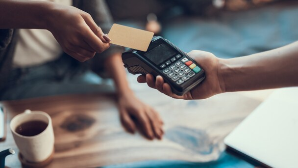 A Mobile credit card transaction