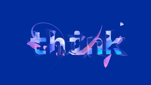 "A drawing of the word ""think""."