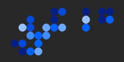 blue circles on dark background