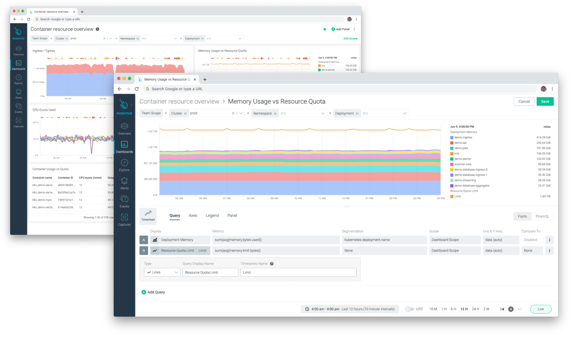 Other usability enhancements include multi-metric and multi-segmentation panels, improvements to the visualization of different panels, Teams-sharing capabilities and a PromQL mode to query Prometheus metrics.