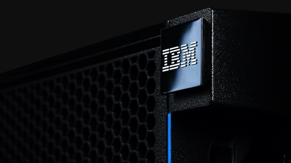Close-up of IBM server