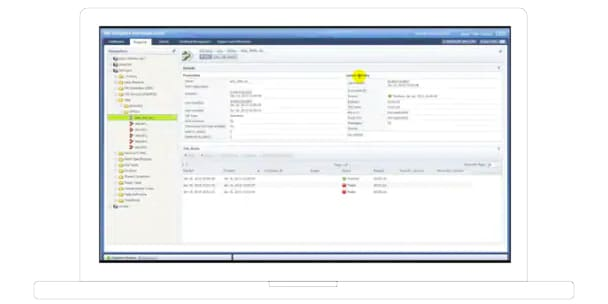 Screen shot showing IBM InfoSphere Information Server