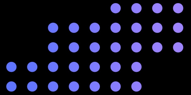 purple dots stacked on top of one another