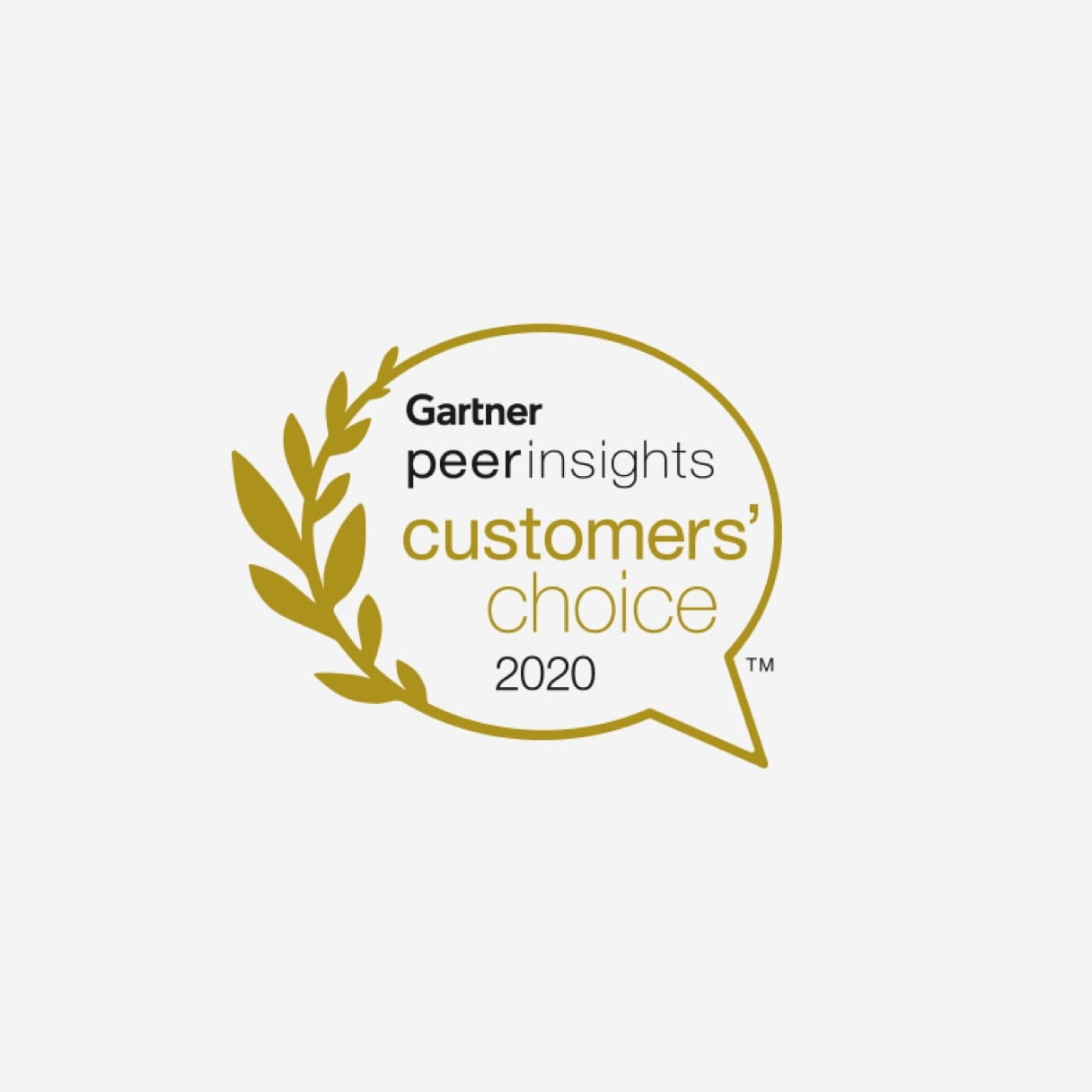 Gartner peer insights customers' choice 2020 logo