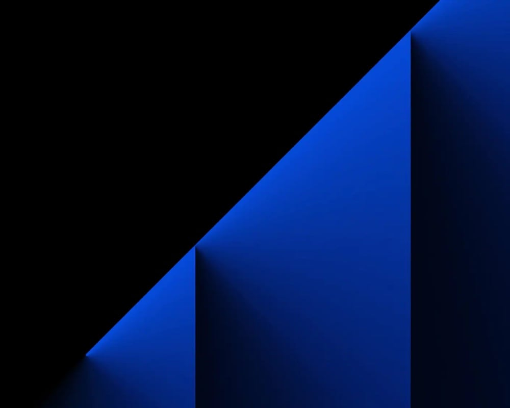 dark blue shapes with a black background