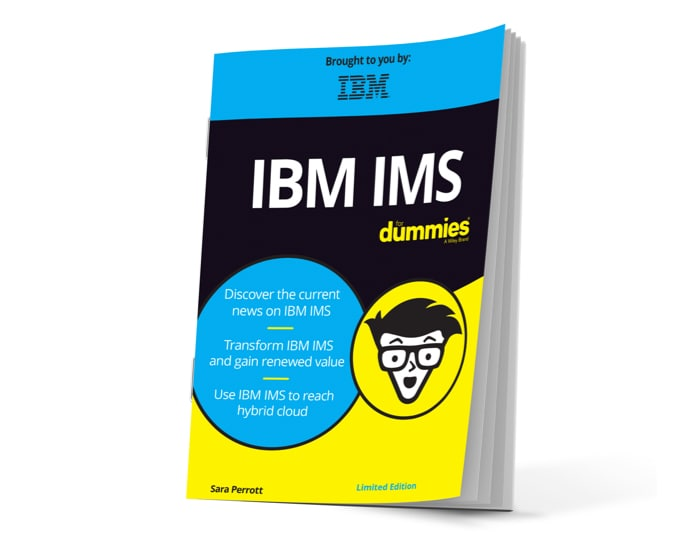 Book cover with title IBM IMS for Dummies