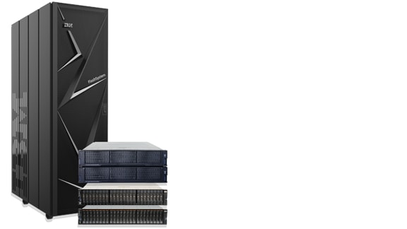 Group photo of the IBM Flash Storage family of products