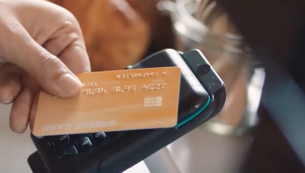 Credit Card being read