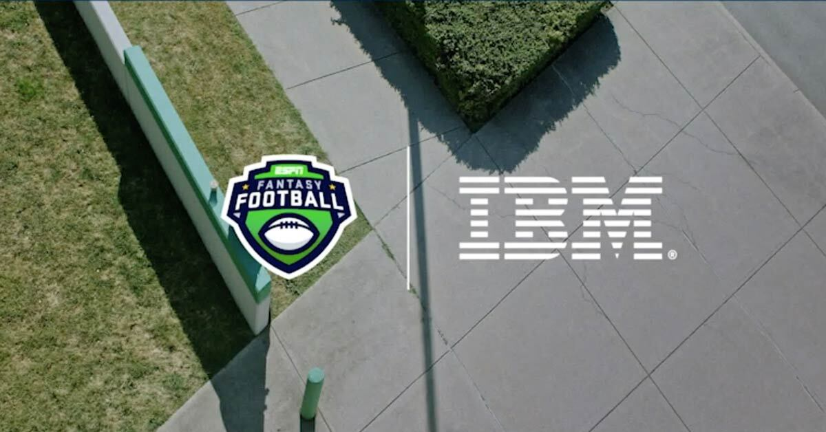 Football Fantasy and IBM logos
