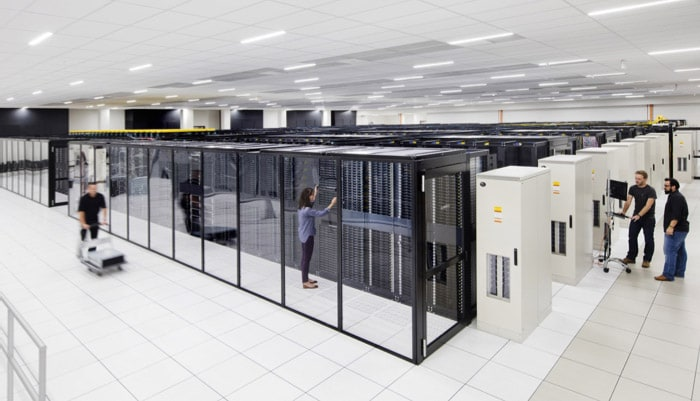 a view of a cloud servers center
