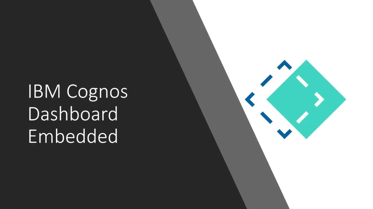 IBM Cognos Dashboard Embedded introduction