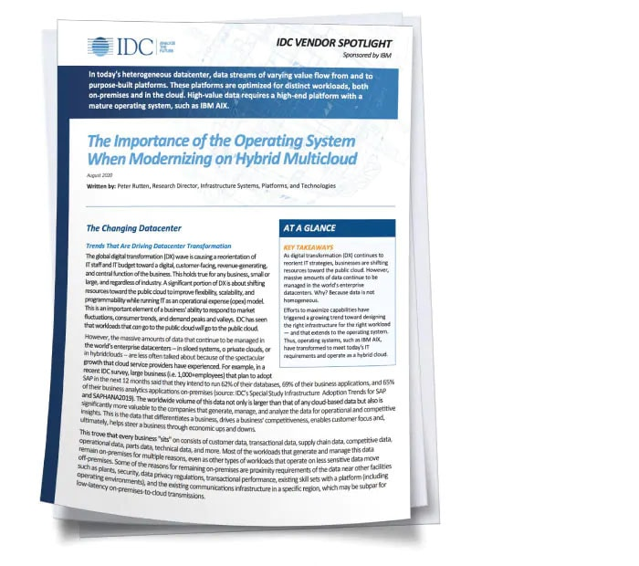 screen capture of IDC paper