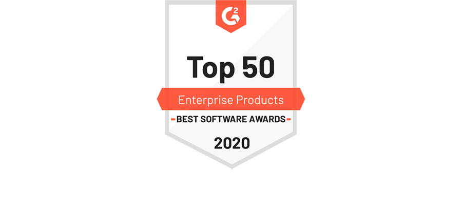G2 Top 50 Best Software Awards logosu