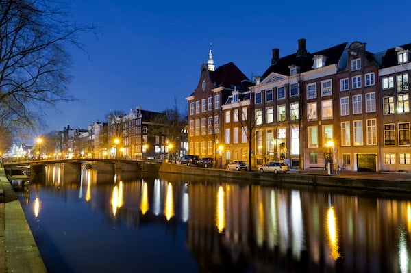 cityscape of amsterdam, the netherlands