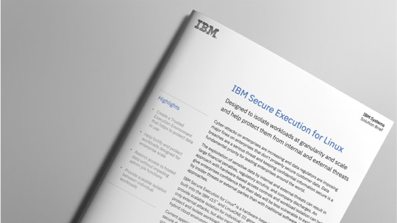 ملخص الحل الى IBM Secure Execution for Linux