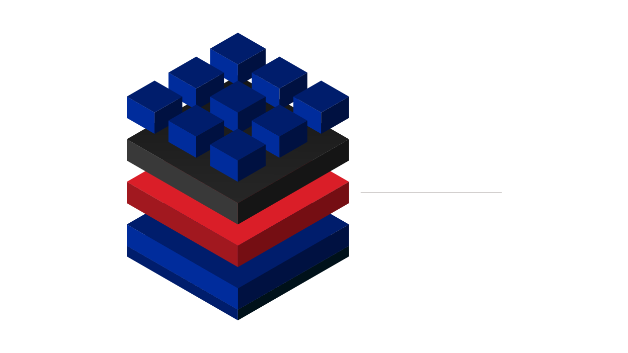 Illustration showing IBM hybrid cloud architecture with Red Hat OpenShift highlighted