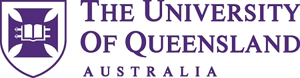The University of Queensland Australia logo with crest in purple