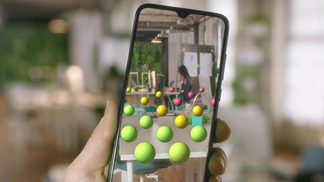 Augmented reality on a mobile screen
