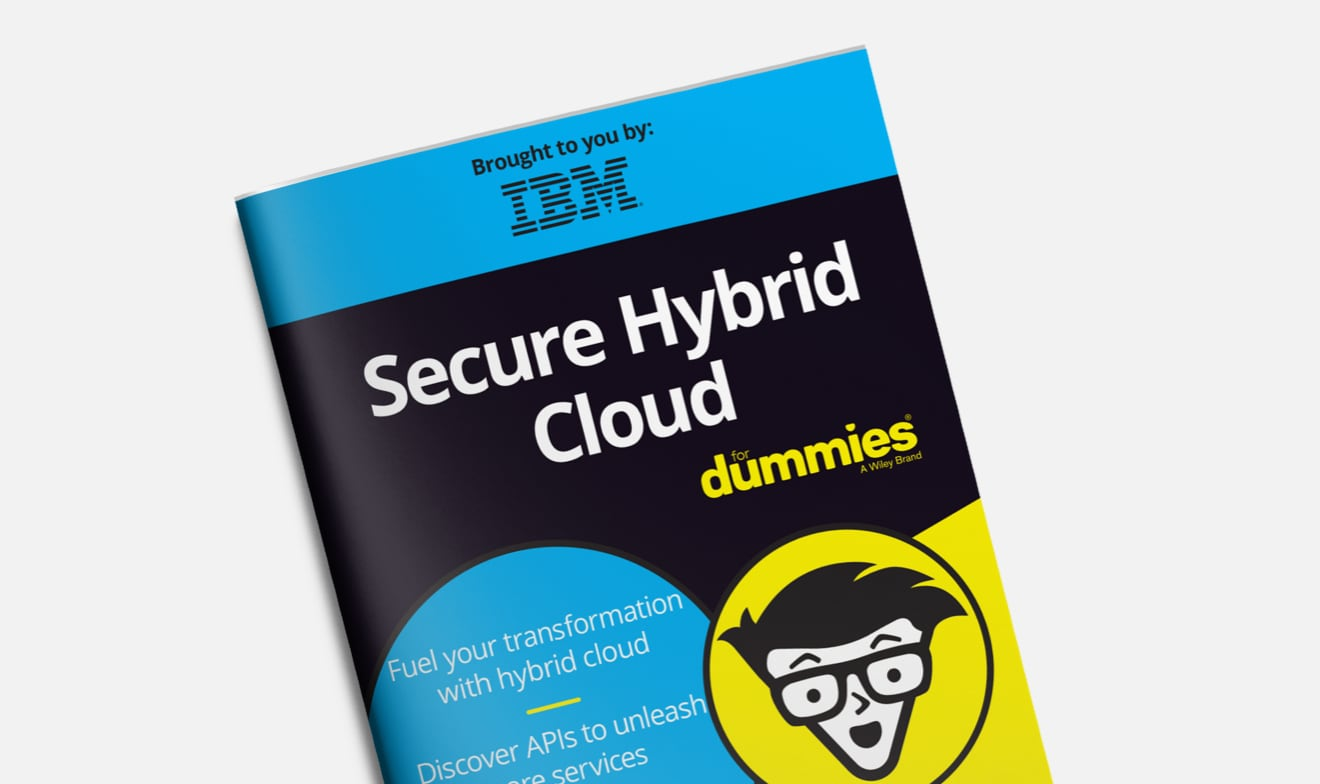 غلاف دليل Secure hybrid cloud for Dummies