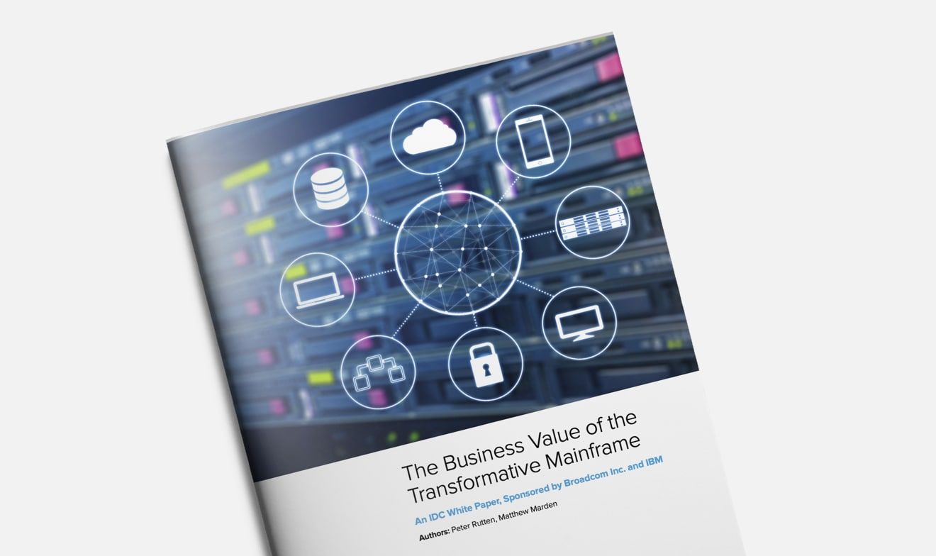 "Copertina del report di IDC ""The Business Value of the Transformative Mainframe"""