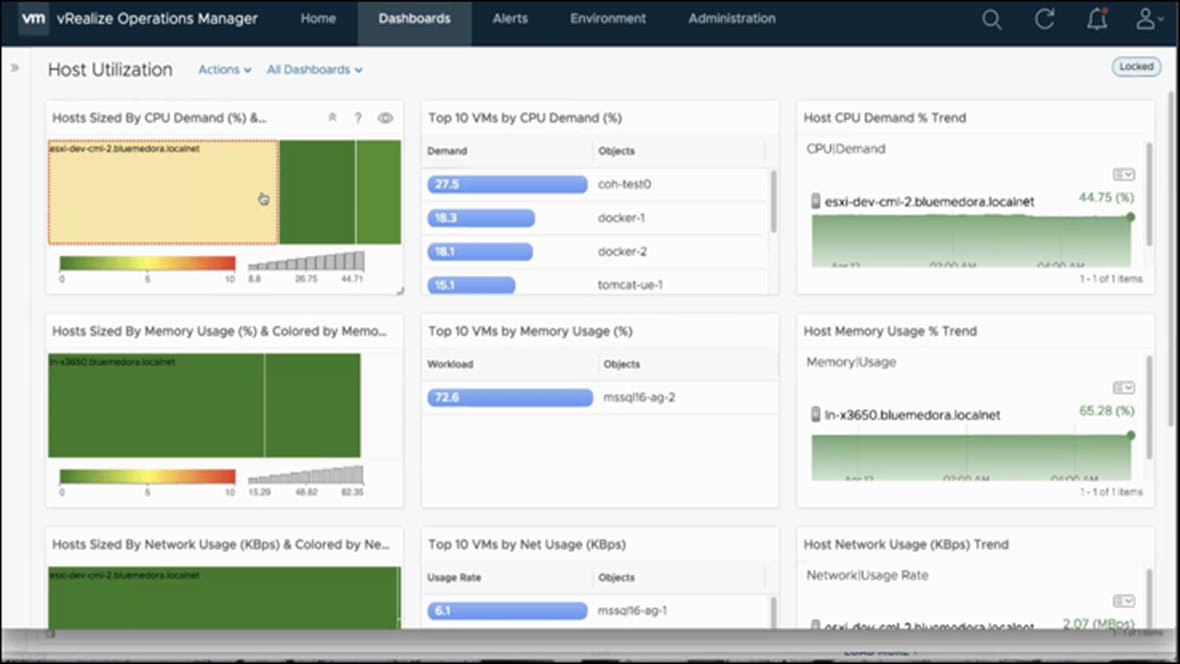 VMware vRealize Operations for Power screen capture