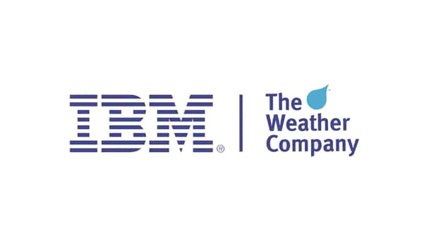 IBM and the Weather Company logo