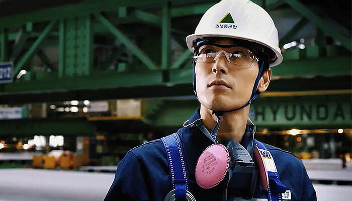 industry man with protection gear